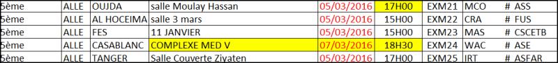 Calendriers DEX-M