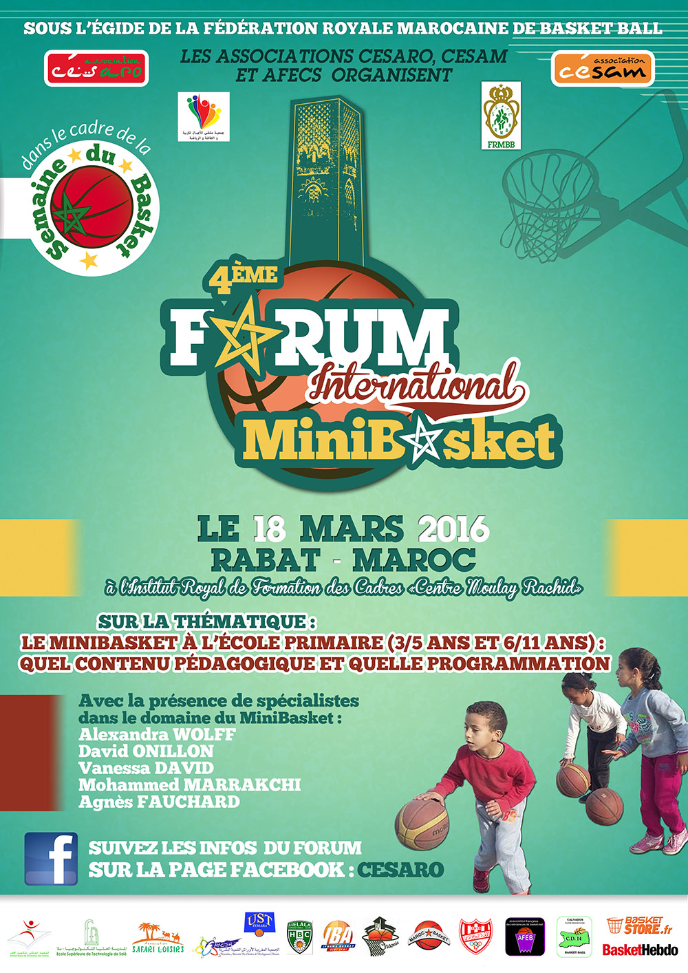 2-Affiche 4eÌme Forum Mini Basket – Vendredi